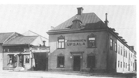 Tidningen in Uppsala, das 1. Wohnhaus der Familie Swedberg