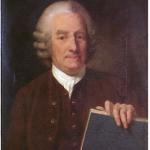 """Emanuel Swedenborg mit dem Buch """" Erklärte Offenbarung"""""""